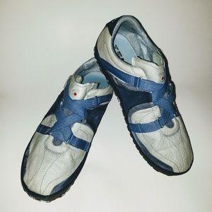 Tsubu Baby Blue Sz 9 Athletic Shoes Hook Loop